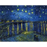 Noite Estrelada Sobre o Ródano - Vincent van Gogh - 30x38 - Tela em Canvas Para Quadro
