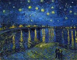 Noite Estrelada Sobre o Ródano - Vincent van Gogh - 60x96