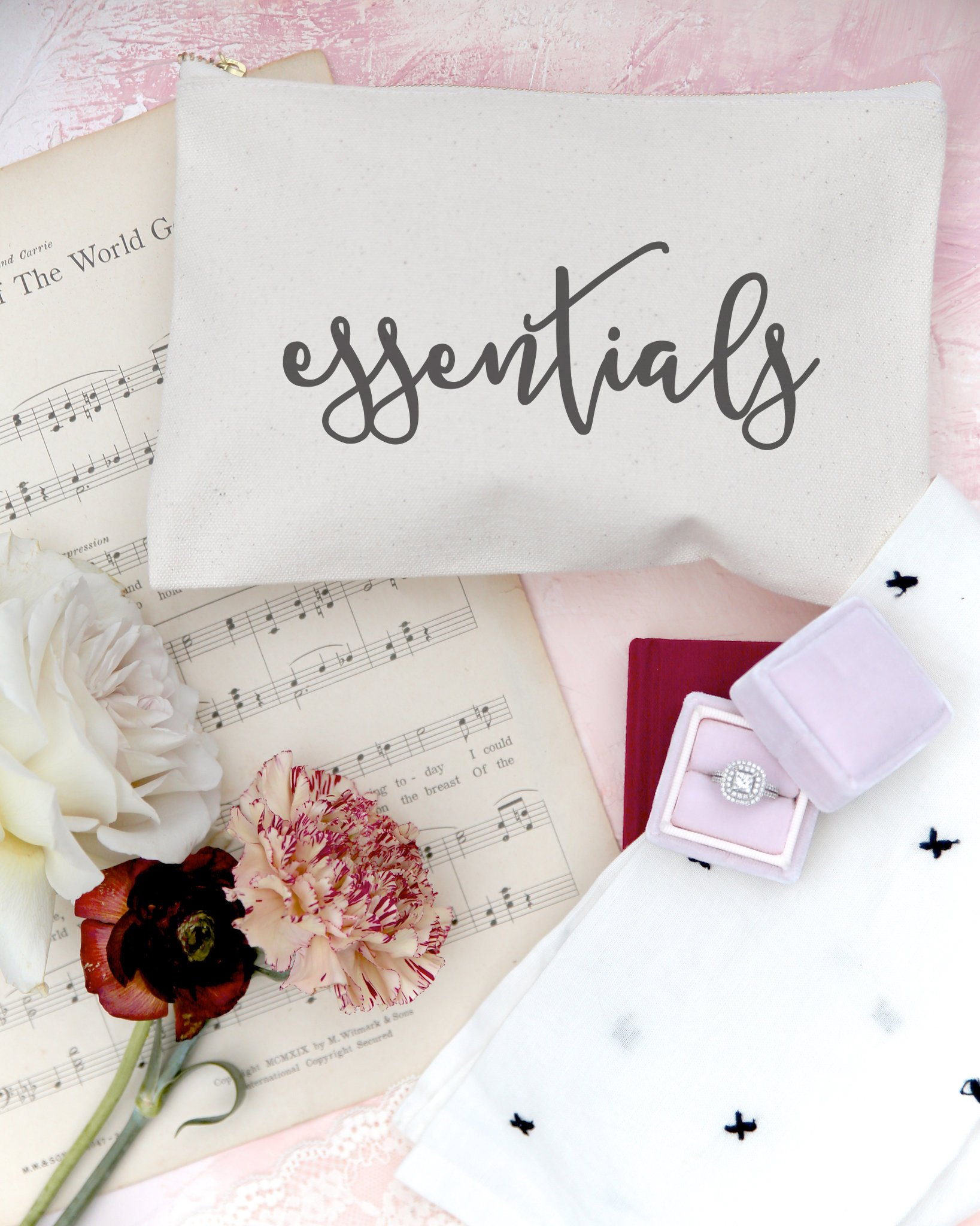 The Cotton & Canvas Co. Essentials Cosmetic Bag and Travel Make Up Pouch by The Cotton & Canvas Co. (Image #4)