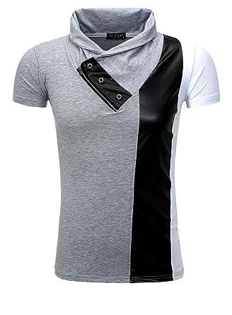 am modischsten am besten kaufen Entdecken cooles Herren T-Shirt mit Elasthan von ReRock weiß grau XL ...