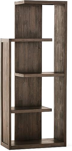 Simpli Home AXCMON-05 Monroe Solid Acacia Wood 72 inch x 30 inch Rustic Bookcase