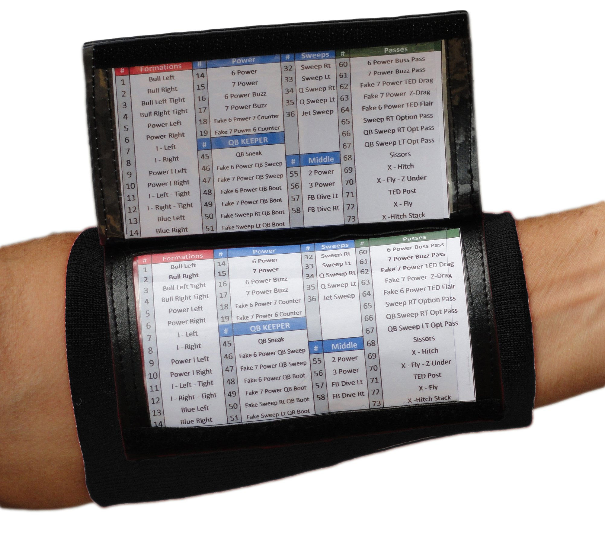 SteelLocker Sports X200 Adult Playbook Wristband - 10 Pack (Black)