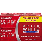 Colgate Optic White Toothpaste, Cool Mint, 2 X 75 mL