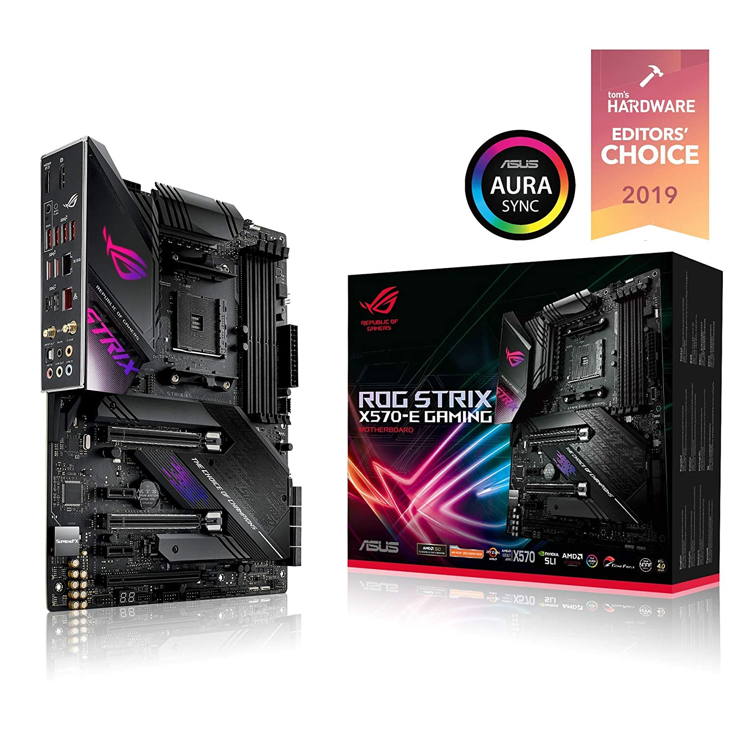 ASUS ROG Strix X570-E Gaming ATX Motherboard with PCIe 4 0, Aura Sync RGB  Lighting, 2 5 Gbps and Intel Gigabit LAN, WiFi 6 (802 11Ax), Dual M 2 with