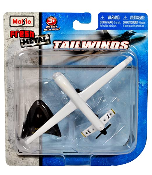 Maisto Fresh Metal Tailwinds 1:97 Scale Die Cast United States Military Aircraft - US Air Force Medium Altitude, Long Endurance, Unmanned Aerial Vehicle RQ-1 Predator with Display Stand