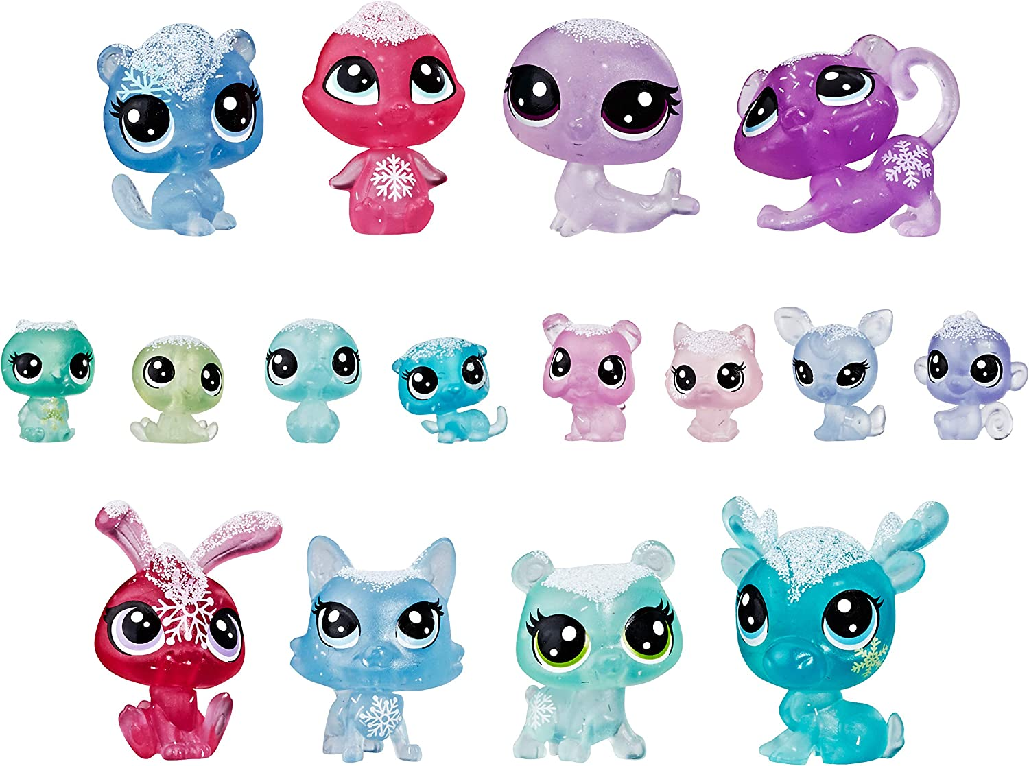 Littlest Pet Shop Frosted Wonderland Pet Pack Toy, Includes 16 Pets, Ages 4 & Up