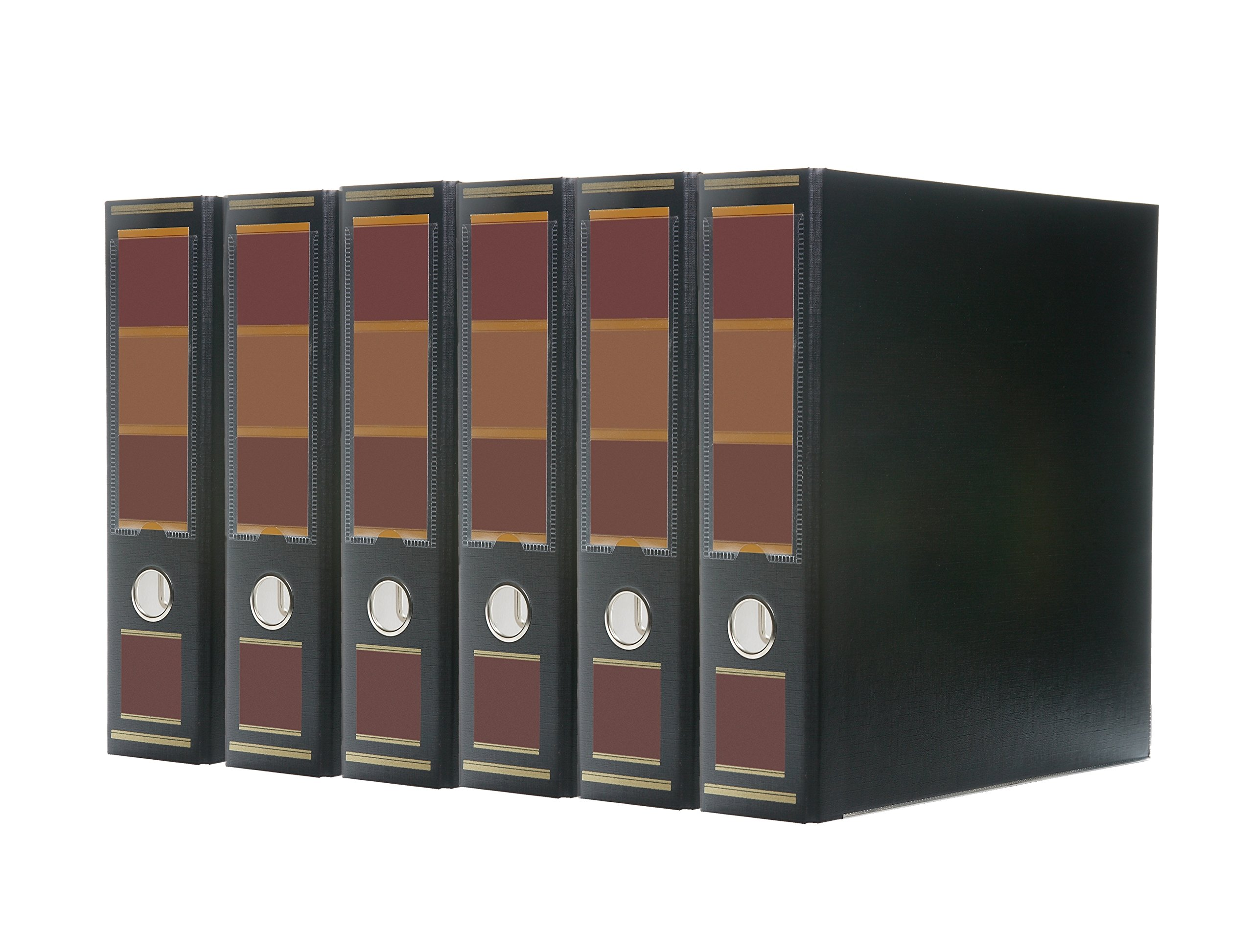 Bindertek 3-Ring 3-Inch Premium Linen Textured Binder 5-Pack, Barrister Black (3EFPACK-BB)