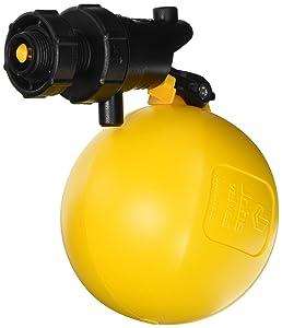 """Jobe Valves J-RJV20 Rojo Float Valve, 3/4"""", Black/Yellow"""