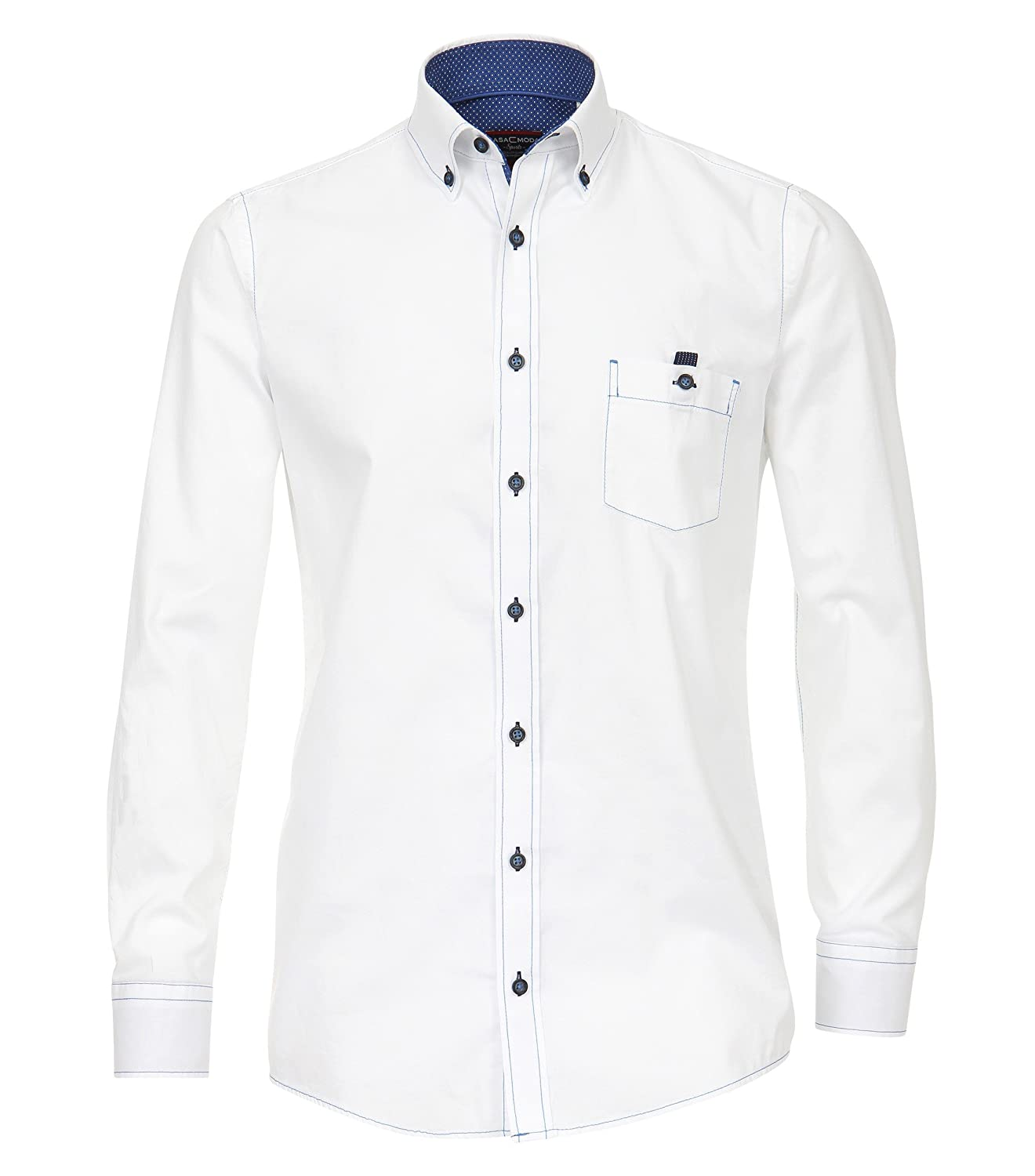 MichaelaX-Fashion-Trade - Camisa Formal - Básico - con Botones - Manga Larga - para Hombre
