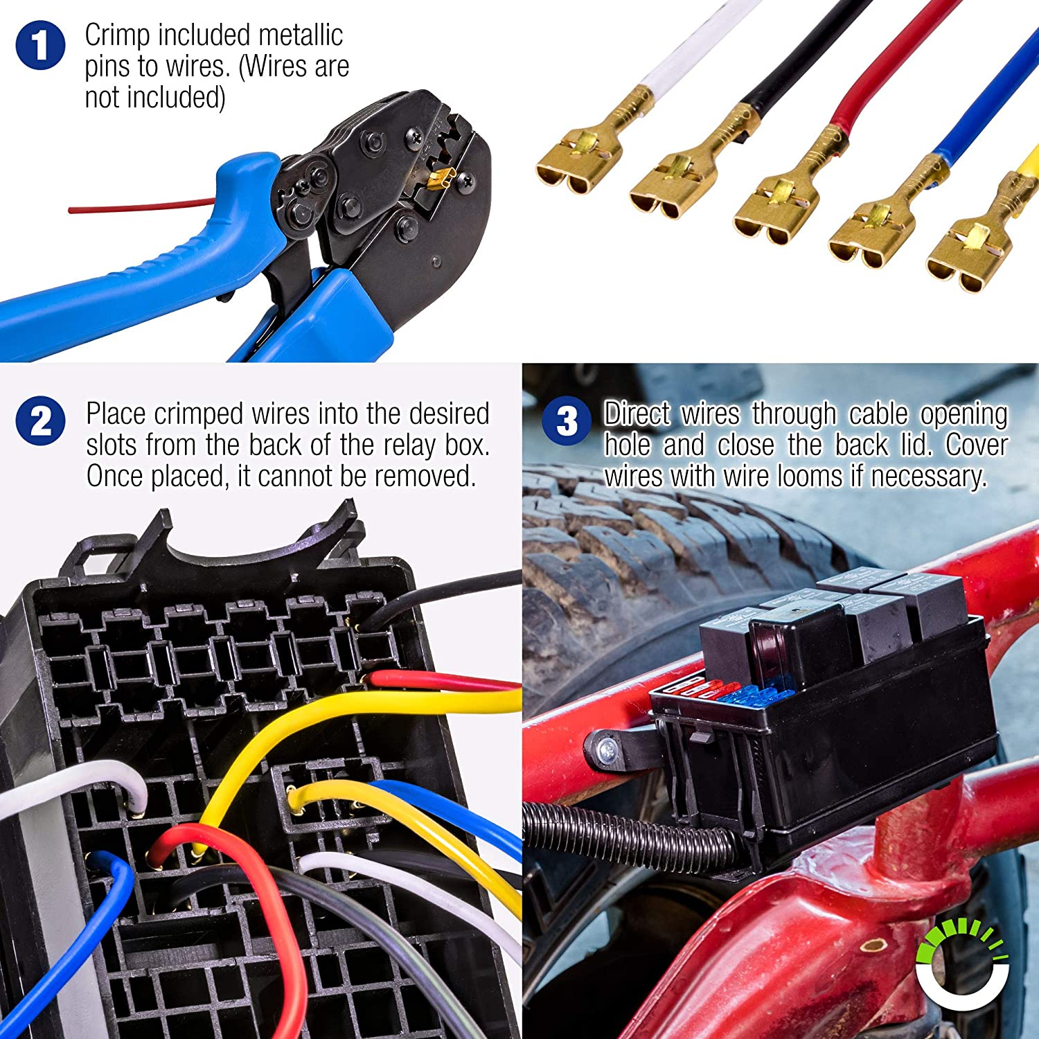Online Led Store 12 Slot Relay Box 6 Relays Blade Home Wiring Into Fuse Fuses Bosch Style Easy Installation Oem Factory Look For