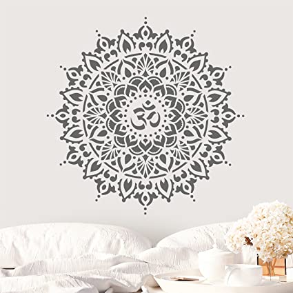 amazon com om mandala stencil template walls crafts reusable