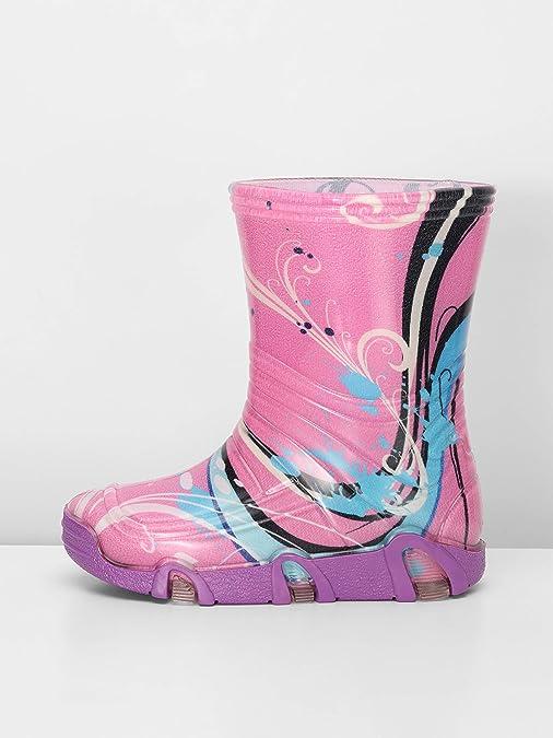 Ladeheid Bottes de Pluie Chaussure Enfant Fille Gar/çon Swk2020