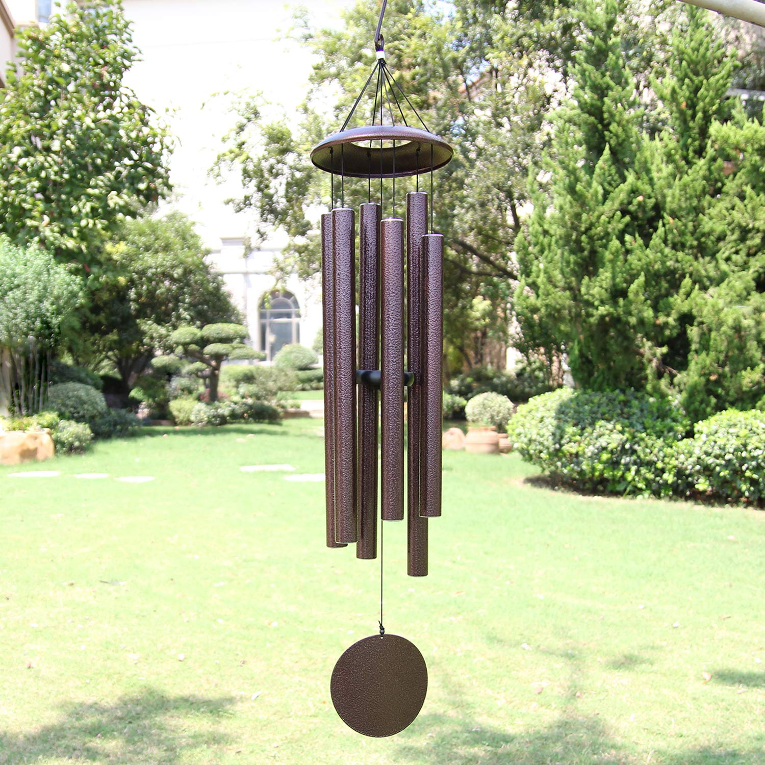 ASTARIN Wind Chimes Outdoor Deep Tone,45-Inch Memorial Wind Chimes Large with 6 Heavy Tubes,Amazing Grace Wind Chimes Outdoor for Garden Hanging Decor,Sympathy Gifts,Antique Silver