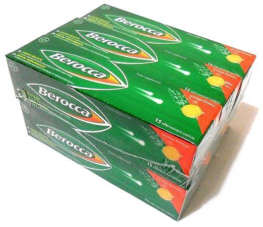 6 x 15 unidades Berocca tablets de vitaminas magnesio Zinc naranja rotulador: Amazon.es: Hogar