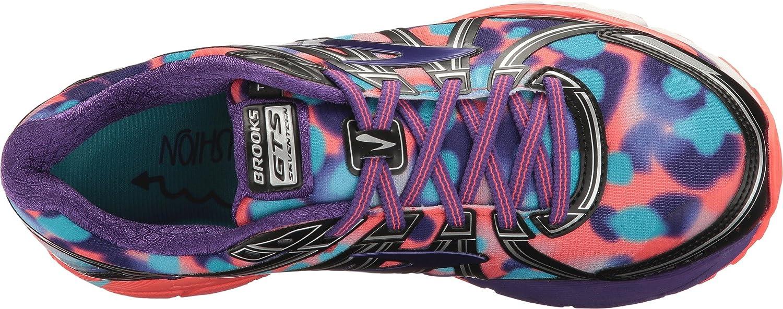 Brooks Damen Adrenaline GTS 17 Coral Gymnastikschuhe, Silver/Purplecactusflower/Blau schwarz/Heliotrope/Fiery Coral 17 a77b74