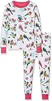 Hatley Girls' 100% Organic Cotton Long Sleeve Printed Pajama Set