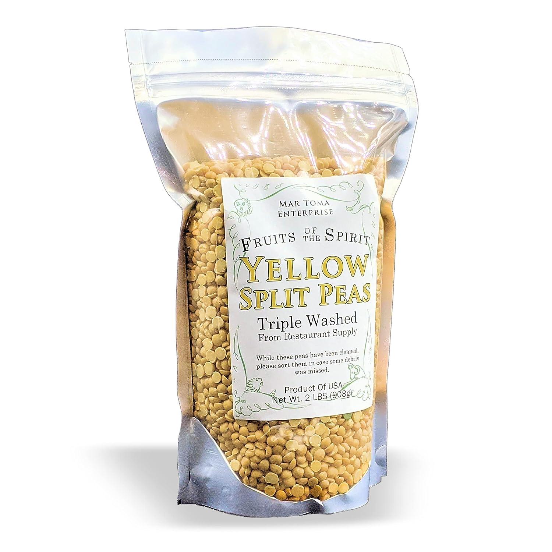 FOTS Yellow Split Peas Dry- (2 Pounds) Salads, Dip, Habichuelas, Arvejas Partidas Amarillas, Chana Dal, Healthy Protein Proteinas Indian Ethnic Food, Chicharos Partidos Amarillos, - Fruits Of The Spirit Brand