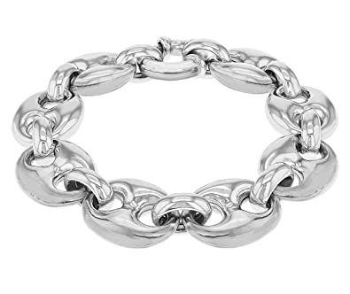 Tuscany Silver Sterling Silver Rhodium Plated Large Gucci Style Bracelet of 20cm/8 JF11opDl