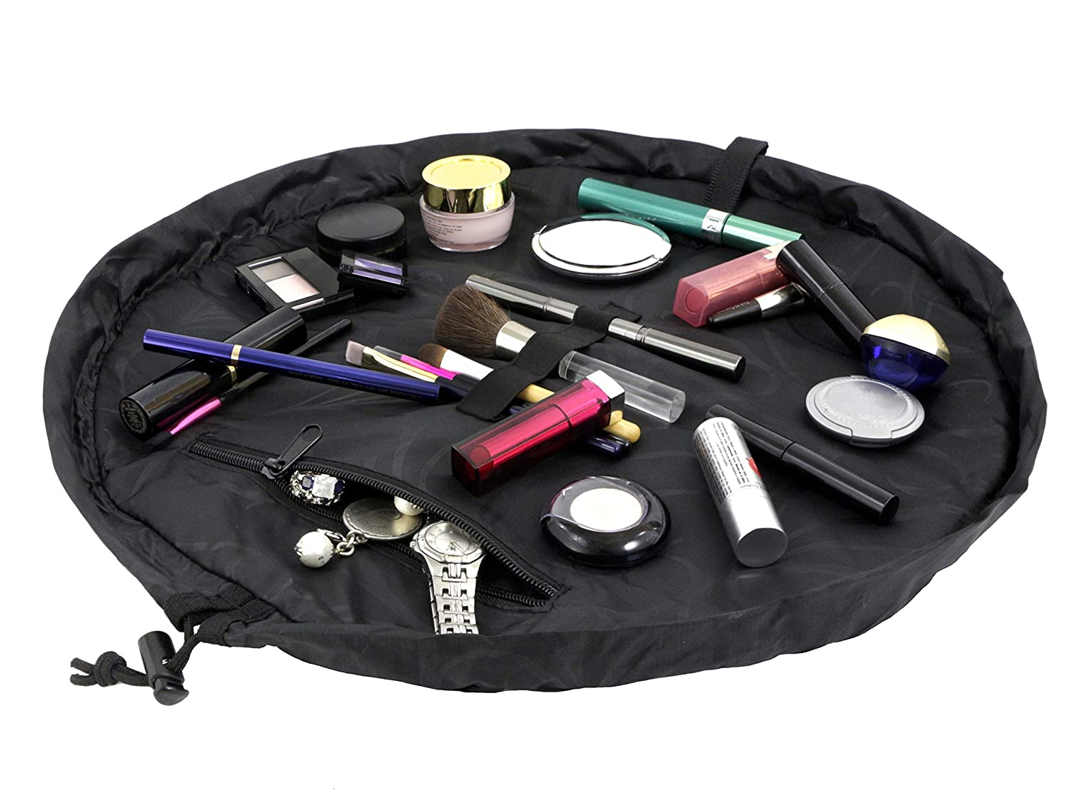 Amazon.com: Lay-n-Go Cosmo Cosmetic Bag, Black: Toys & Games
