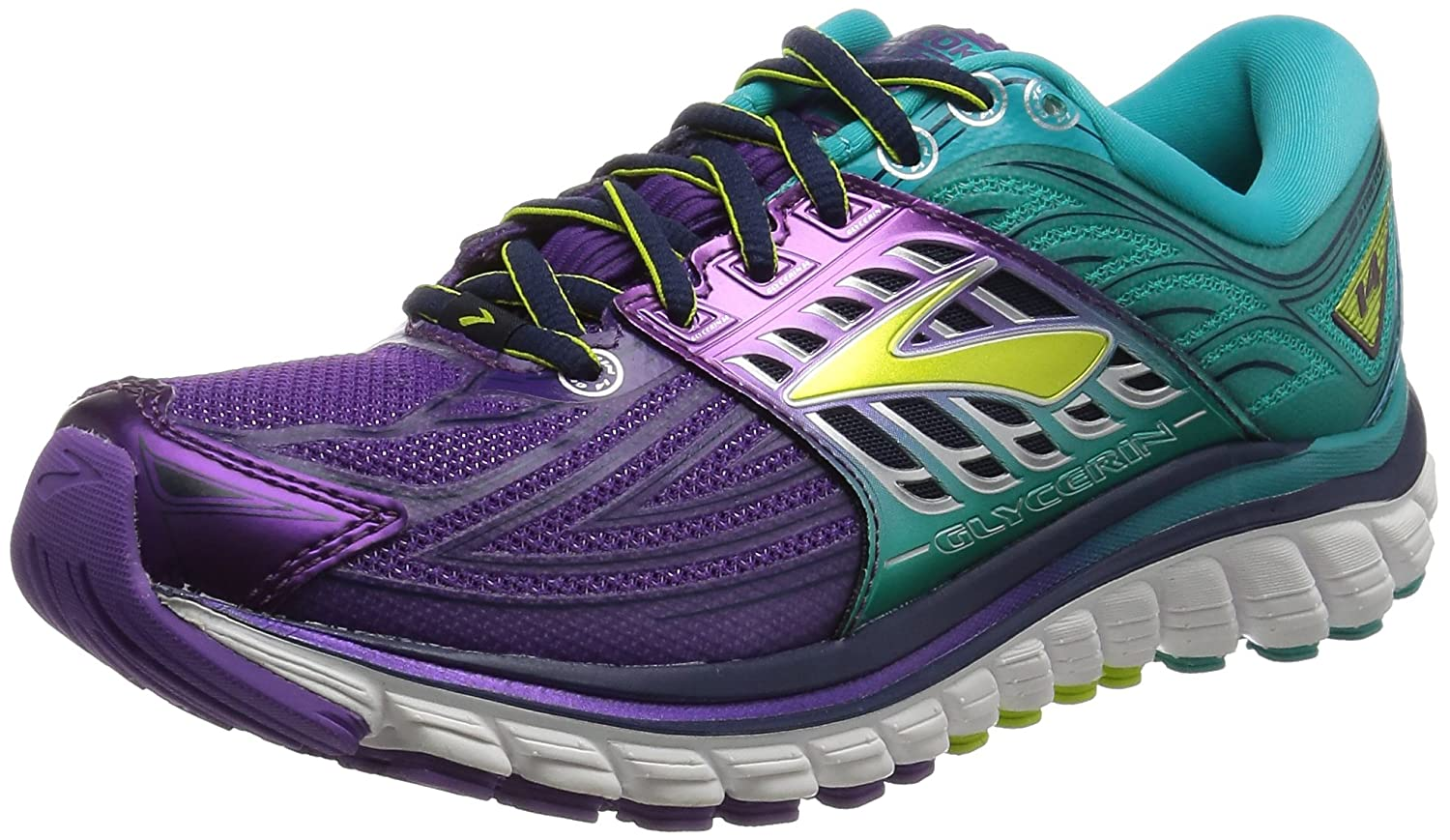 Brooks Women's Glycerin 14 B017MZXJDA 6.5 B(M) US|Pansy/Ceramic/Lime Punch