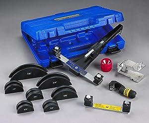 YELLOW JACKET 60325 Deluxe Ratchet Hand Bender Kit, Includes The Reverse Bending Mandrel