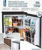 Mini-Kühlschrank, freistehend, thermoelektrisch, geräuscharm, Volumen ca. 38 l, Höhe ca. 50 cm