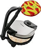 10inch Roti Maker by StarBlue with FREE Roti Warmer - The automatic Stainless Steel Non-Stick Electric machine to make…