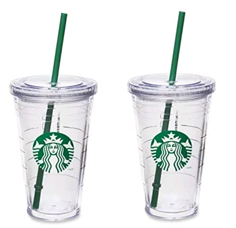 54a254ae656 Amazon.com | Starbucks Grande Insulated Travel Tumbler 16 OZ Double Wall  Acrylic 2 Pack Set: Tumblers & Water Glasses