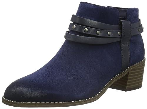 Clarks Women's Breccan Shine Cowboy Boots, Blue (Navy Suede), 4.5 UK