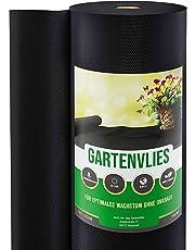 GardenGloss® 50m² Unkrautvlies Gartenvlies 50g/m² - Unkrautfolie Wasserdurchlässig, Reißfest & UV-Stabil - Unkrautflies auf praktischer Rolle (1m x 50m)