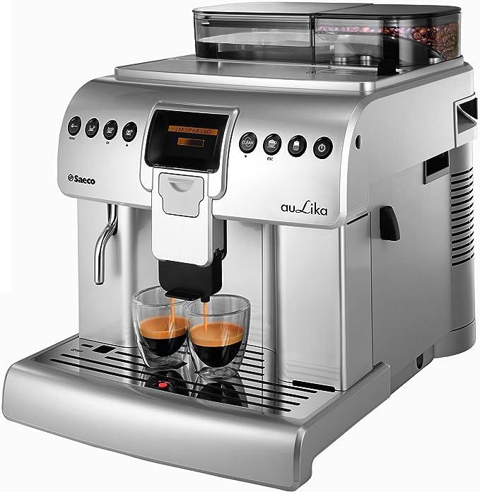 Saeco Aulika One Touch Cappuccino Focus Independiente Totalmente automática Máquina espresso 2.2L 30tazas Acero inoxidable - Cafetera (Independiente, Máquina espresso, 2,2 L, Molinillo integrado, 1400 W, Acero inoxidable): Amazon.es: Hogar