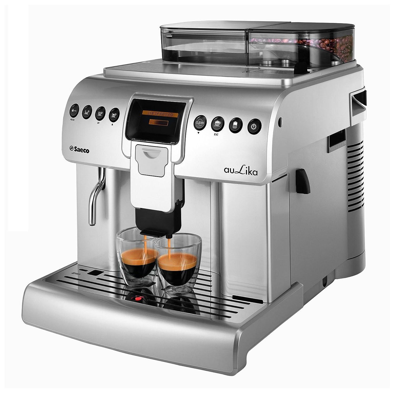 Saeco Aulika One Touch Cappuccino Focus Independiente Totalmente automática Máquina espresso 2.2L 30tazas Acero inoxidable - Cafetera (Independiente, ...