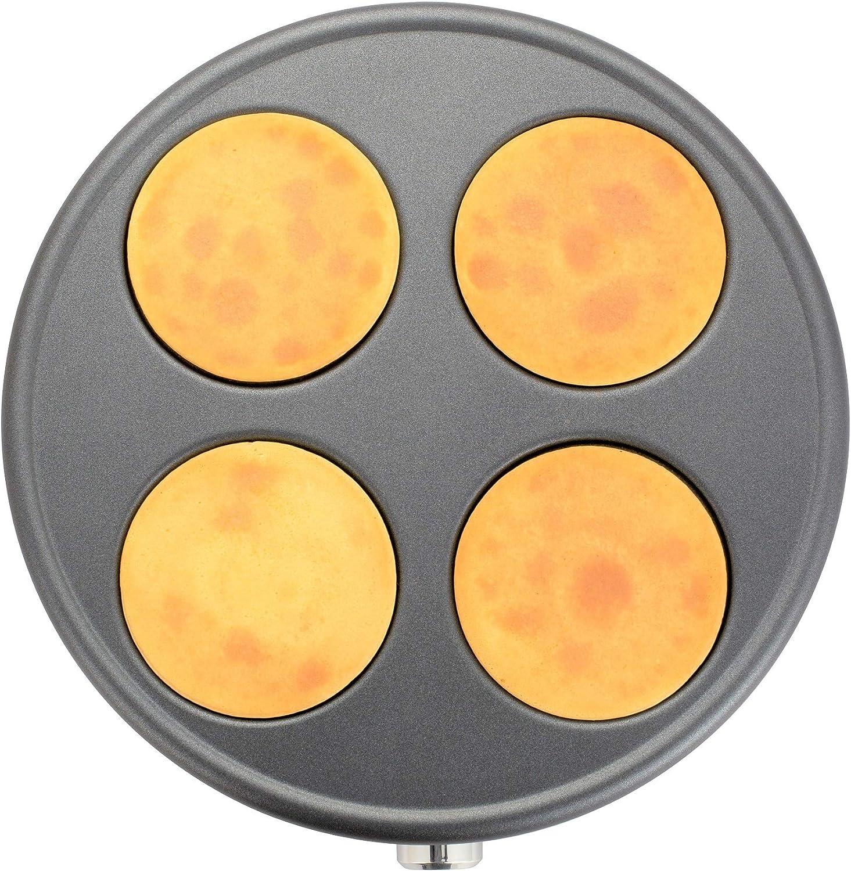 1500 W Senya SYCK-CV026 cr/êpi/ère /électrique 2 plaques interchangeables en Fonte daluminium Cr/êpe Time 1500W Black