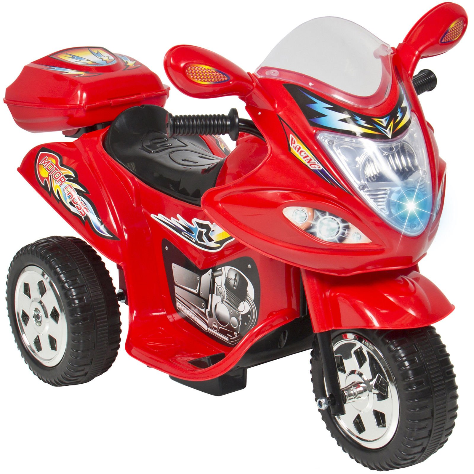 Marketworldcup-Kids Ride On Motorcycle 6V Toy Battery Powered Electric 3 Wheel Power Bicyle Red