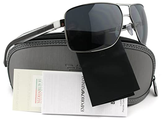 a2761f00b554 Emporio Armani EA2001 Polarized Sunglasses Matte Gunmetal w Grey (3010 81) EA  2001 301081 64mm Authentic  Amazon.co.uk  Clothing
