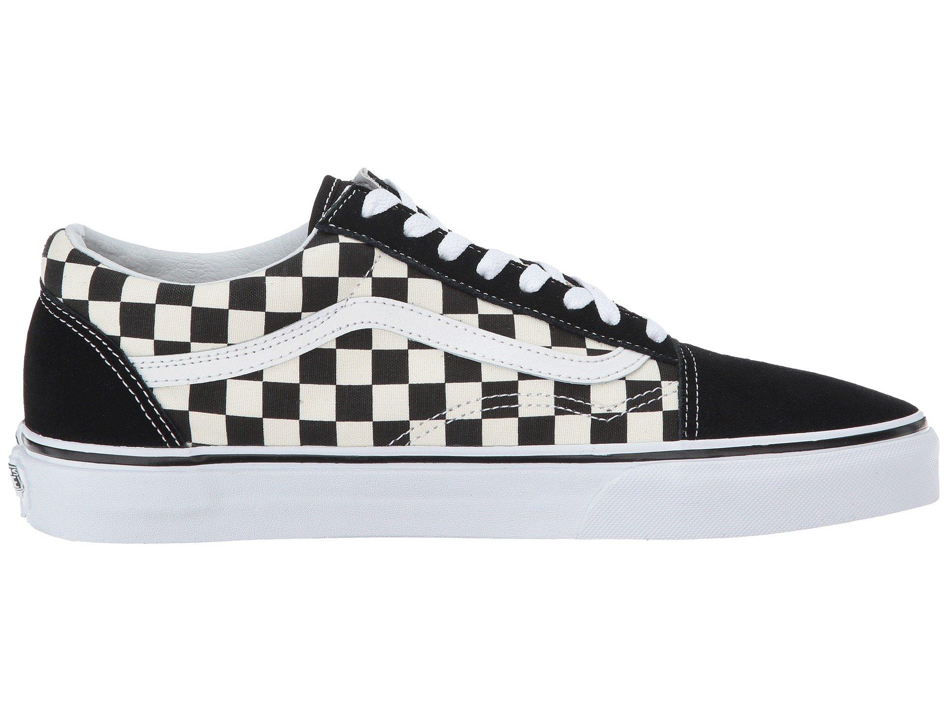 Vans Unisex Checkerboard Old Skool Lite Blk/White Checkerboard Slip-On - 3.5 by Vans (Image #8)