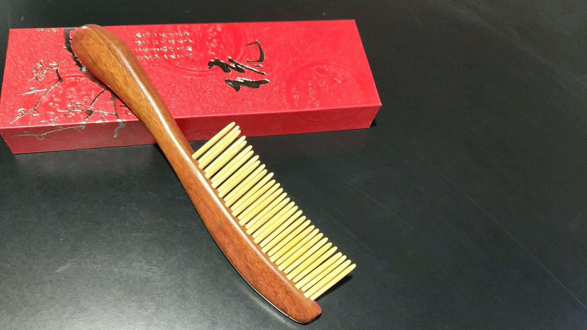 1PC Natural Sandalwood Bamboo Hair Comb Anti-Static Wooden Handle Hair Scalp Massage Comb Hairbrush Detangle Hair Brush Styling Tool