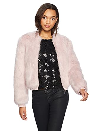 9a42cc622 Amazon.com: A|X Armani Exchange Women's Faux Fur Zip Jacket: Clothing
