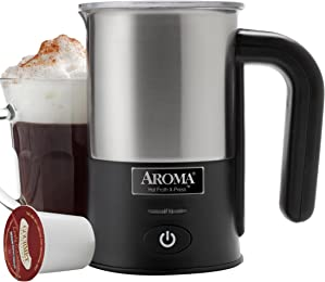 Aroma Aroma Hot Froth X-Press Milk Frother, Stainless Steel (AFR-180