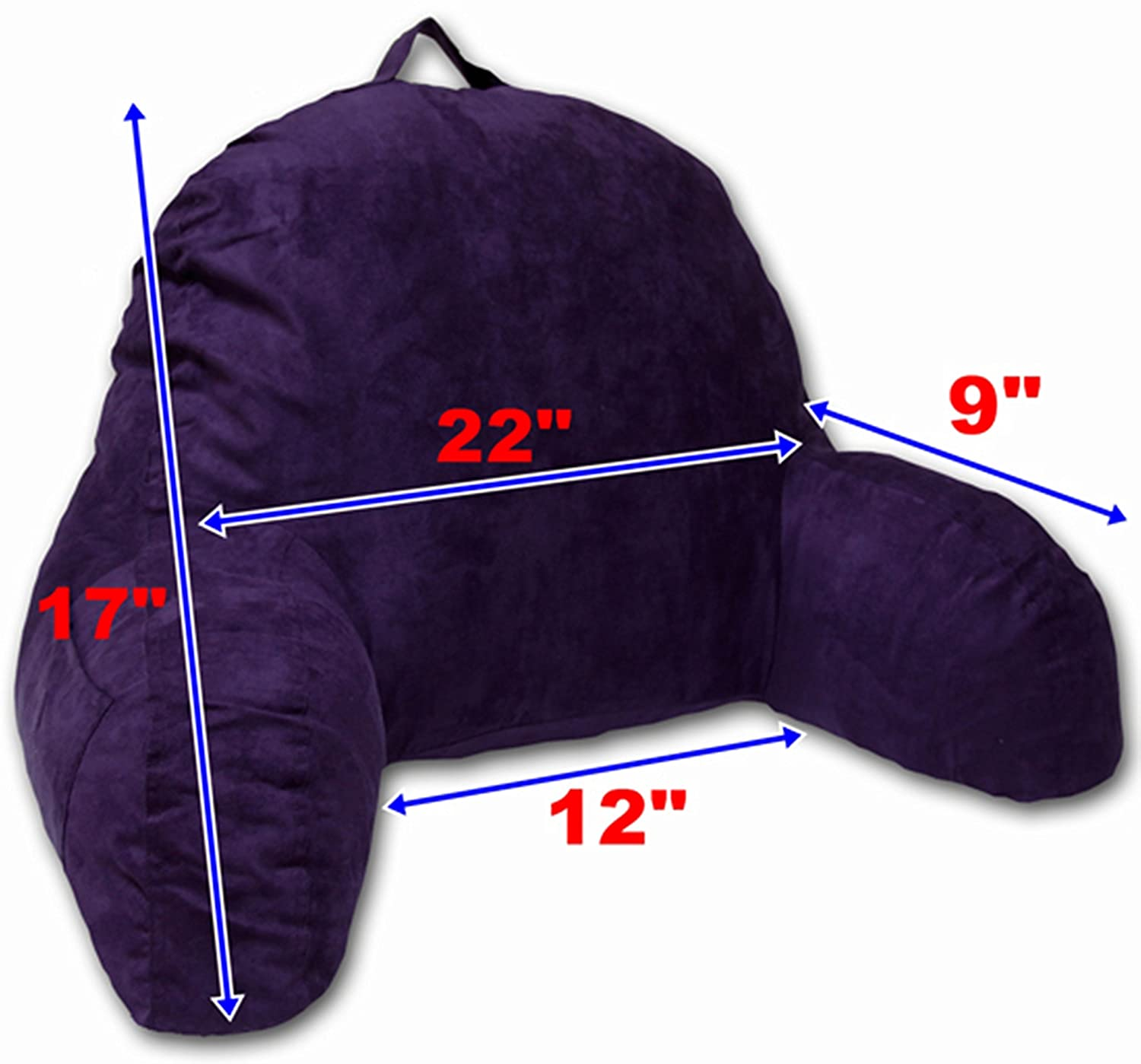 Amazon Purple Microsuede Bed Rest Reading Pillow & Support