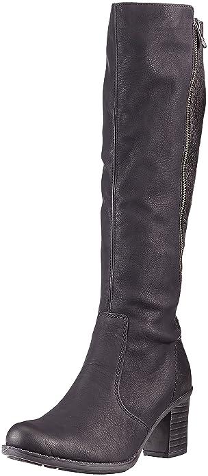 Womens Z7662 Boots, Black Rieker