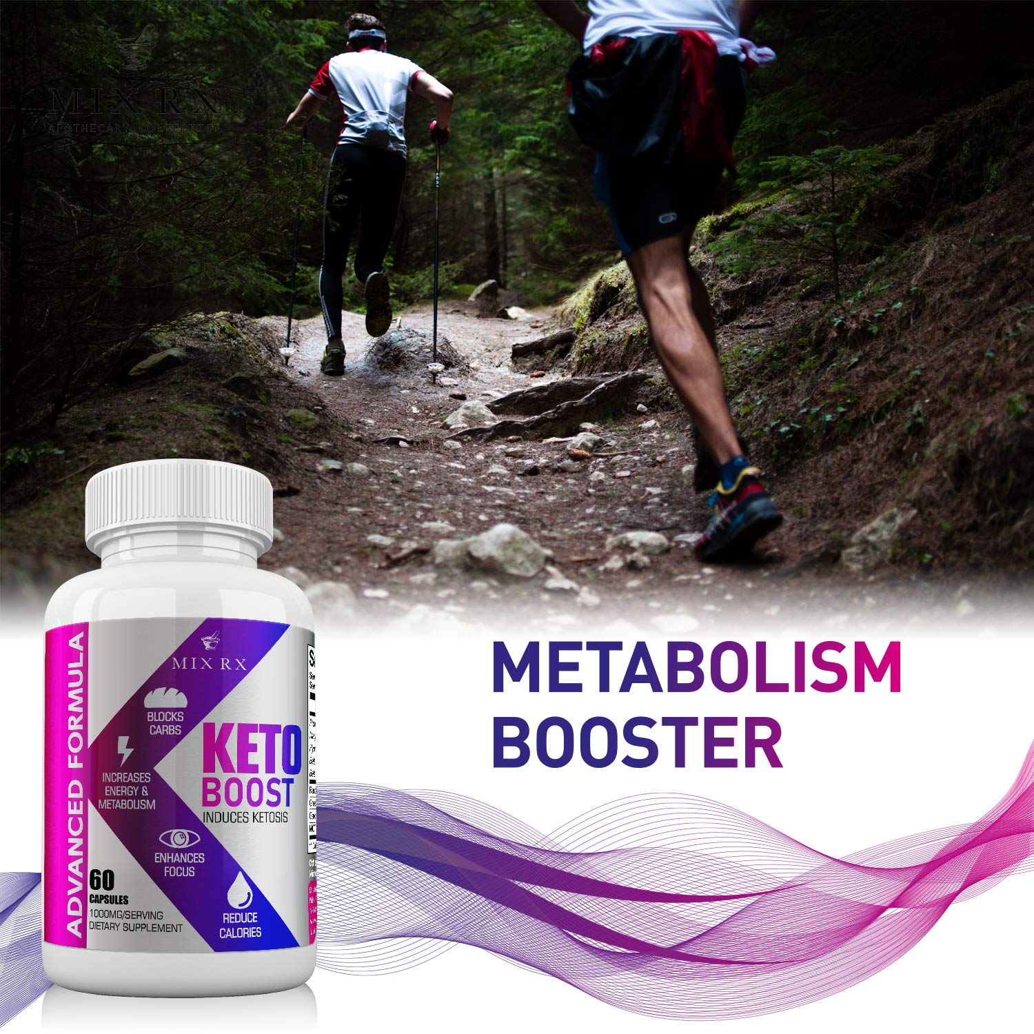 (2 Pack | 120 Capsules) Best Keto Diet Pills with Carb Blocker, Belly Fat Supplement - Exogenous Ketones - Ketosis for Women Men - Healthy Weight Management - Metabolism Burner BHB Salts