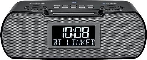 Sangean RCR-20 Digital AM FM-RDS Bluetooth Clock Radio with USB Charger