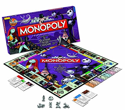 the nightmare before christmas collectors edition monopoly game - Nightmare Before Christmas Board Game