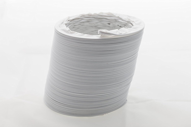 Tubo de salida de aire de PVC flexible Ø 125/127 mm, 3 m, por ejemplo, para aire acondicionado, secador, campana extractora: Amazon.es: Bricolaje y herramientas