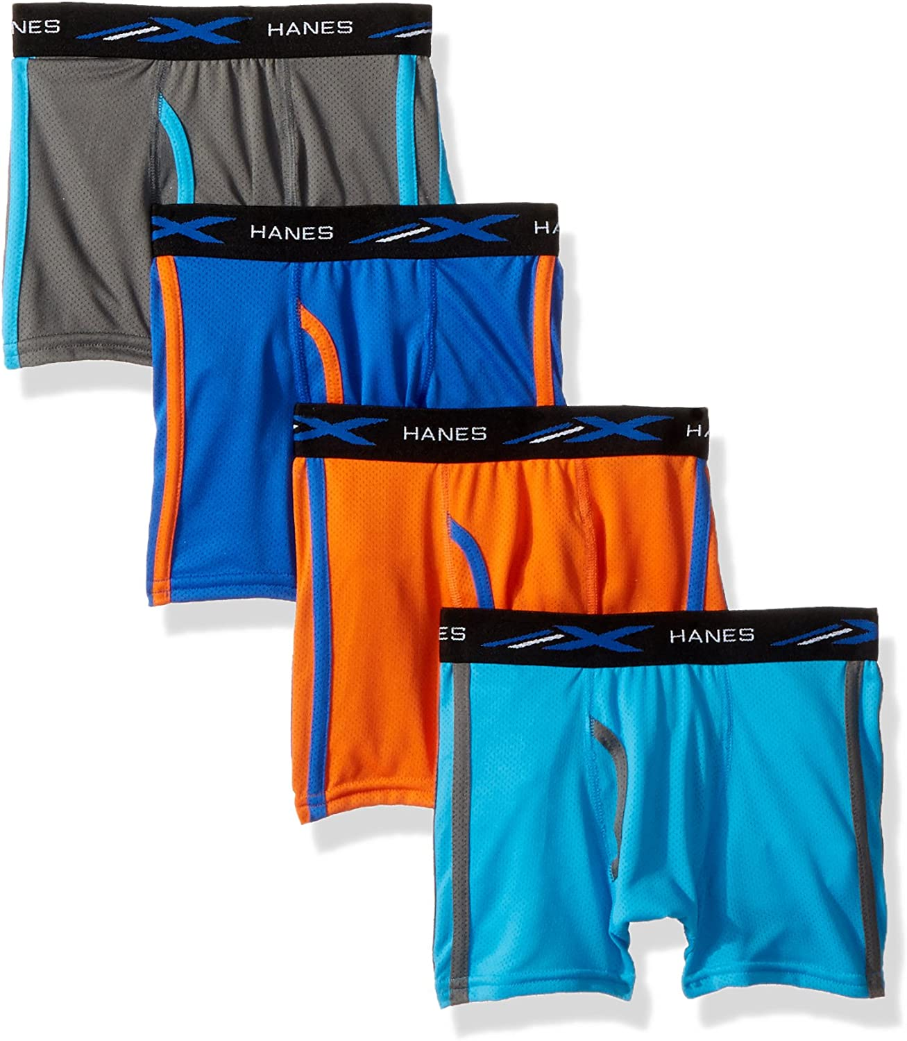 Hanes Boys' X-Temp Breathable Mesh Boxer Brief 4-Pack: Clothing