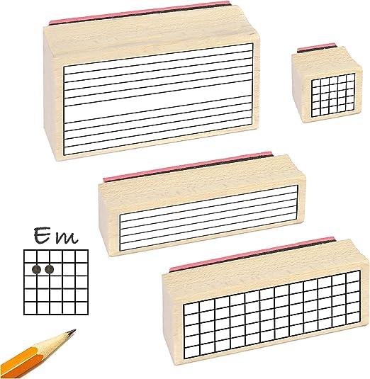 Sello de goma para profesor de guitarra. (4 sellos útiles para ...