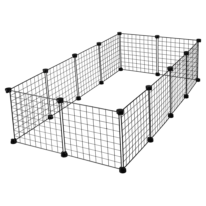 CagesCubes - Jaula CyC Grande para cobayas (2X4 Paneles en Negro ...