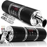 GoHawk RD8 Gen.2 Waterproof Bluetooth Motorcycle Stereo Speakers 7/8-1.25 in. Handlebar Mount MP3 Music Player Audio Amplifie