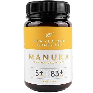 New Zealand Honey Co. Raw Manuka Honey UMF 5+ | MGO 83+, 17.6oz. / 500g